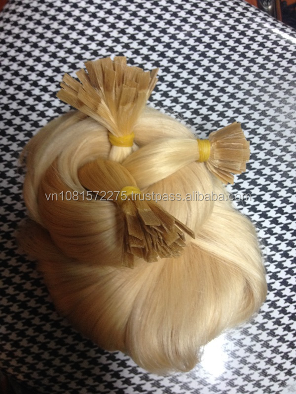 Ponytail hair extensions female 3 piece of blonde strong and silk long curly human hair