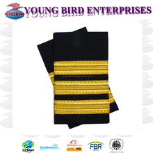 EPAULETTES GOLD PILOT 3 BAR - LONG | MILITARY FLIGHT OFFICER EPAULETTES | AVIATION epaulettes, Airline pilot uniforms