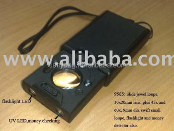 Pocket LED Magnifier WITH flashlight and UV MONEY DETECTOR