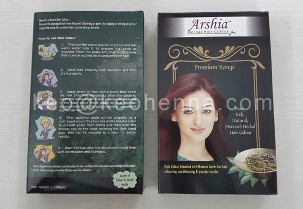 Natural Herbal Henna in 100grm silver and Colored Pouches