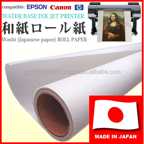 Durable and High quality Japanese rice paper, washi for photographic prints, art works for canon inkjet printers
