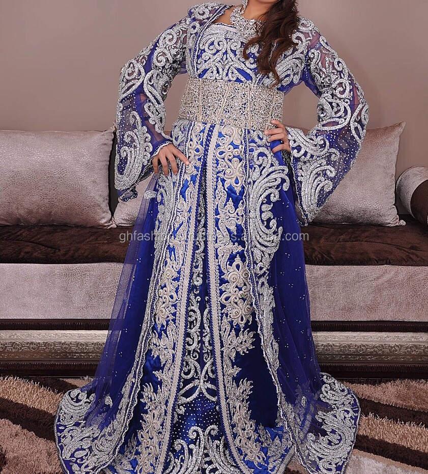 beautiful Moroccan beaded bridal wedding Kaftan 2016