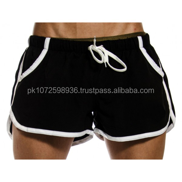Exercise High Quality Polyester Plain Gym Shorts Men