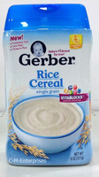 Gerber Rice Single Grain Cereal for Baby 8 oz