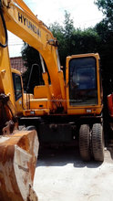used Hyundai excavator R60W-7 Korea wheeled excavator good performance hot sale in Shanghai