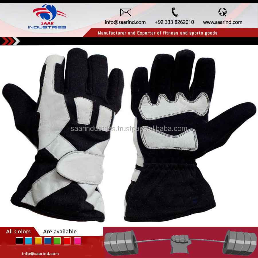 High Quality Nylon Mix Fabric Kart Car Racing Driving Gloves