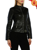 Luke Apparels- High quality women's 2012 autumn women's vintage leather jacket clothes