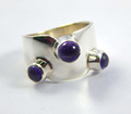 Natural Gorgeous 925 sterling silver amethyst ring JEWELRY EXPORTER