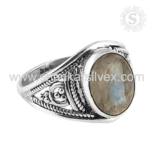 Delightful Indian Silver Jewelry Labradorite Ring Supplier 925 Sterling Silver Jewellery Wholesale