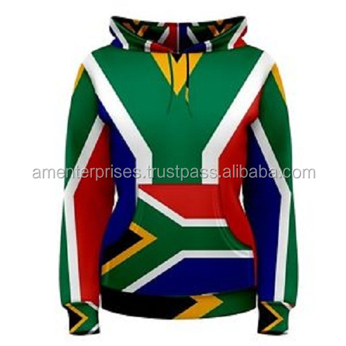 South Africa South African Flag Sublimated Sublimation Hoodie