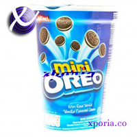 OREO Biscuit Sandwich MINI VANILLA 67gr | Indonesia Origin | Cheap popular chocolate cookies with cream filling