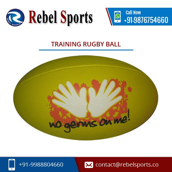 Leading Manufacturer Supplying Durable Training Rugby Ball at Lowest Price