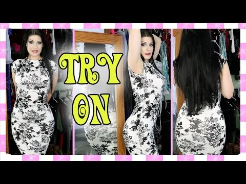 Classy Bodycon Dress TRY ON / WOOTD / OOTD / OOTN Windsor)
