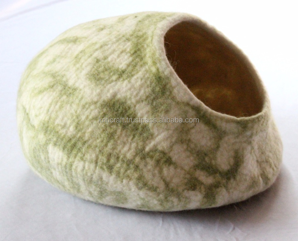 New design 100% wool made cat cave or house/Felt cat bed