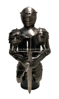 "Holder ""knight with sword"" with bordeaux wine"