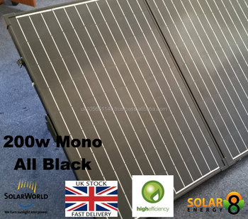 200w Mono All Black Folding Solar Panel Kit Solarworld