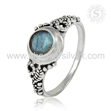 Grandiosity Gemstone Silver Labradorite Ring Beautiful Collection For Girls 925 Sterling Silver Jewelry