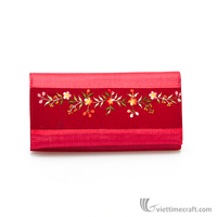 2016 new Fashional colourful knitting comestic handbag, flower pattern case wallet/clutch notecase/card holder