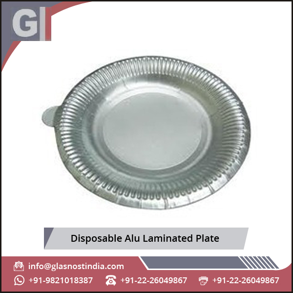 Excellently Finished Disposable Alu Laminated Plate at Most Affordable Rates