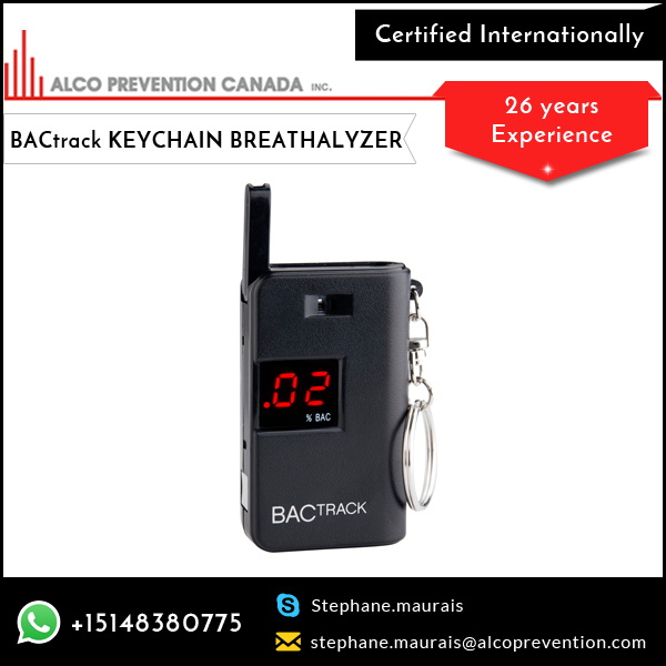 Electronic Police Breath Potable BACtrack Keychain Breathalyzer at Reasonable Price