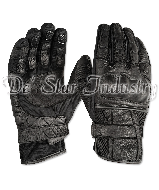Leather Kevlar Motorbike Gloves