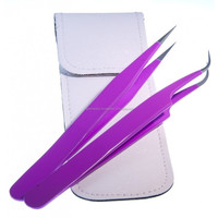 professional cosmetic eyebrow tweezer set eyelash extension stainless steel tweezers