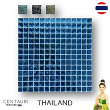 glazed 30*30 cm tiny early black blue green yellow chess pattern Thai porcelain interior tile and luxury 300*300 cm new silver
