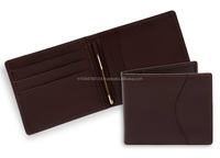 Bifold Money Clip Wallet with 3 Credit Card Slots /best leather money clip wallet/metal money clip wallets