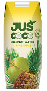 Natural pineapple with coconut water juice