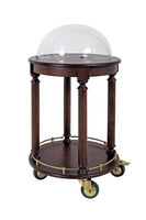 Wooden Structure Cake Trolley Service Cart