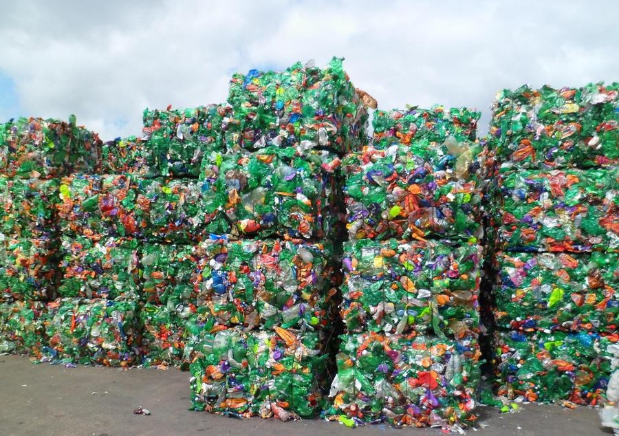 waste pet bottles