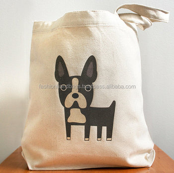 Custom printed wholesale canvas tote shopping bags