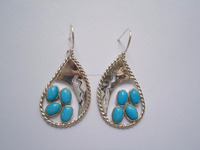 Turquoise 92.5 Sterling Silver Earrings