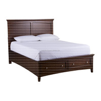 Stylist /famous /rouyal colour bad/beds for sale in wholesale/Durable And Premium Wooden Style Furniture McIntosh Storage Cherry