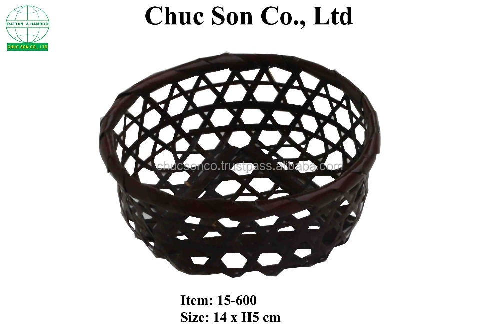 Round Trellis Bamboo fruit Bowl/ Vietnam fruit bowl made of bamboo