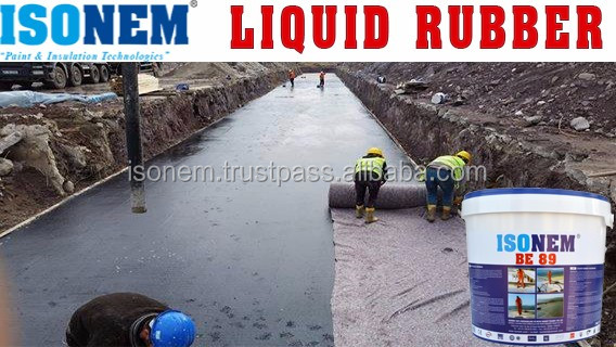 ISONEM LIQUID RUBBER, BITUMEN EMULSION BASED WATERPROOING LIQUID MEMBRANE, ONE COMPONENT, HIGHLY FLEXIBLE