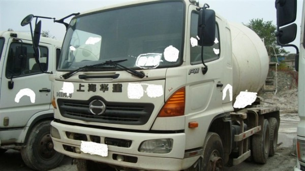 japan cement mixer used condition concrete mixer HINO 500 truck mixer for sale
