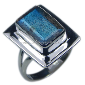 925 Sterling Silver Handmade Jewelry/Antique Labradorite Ring