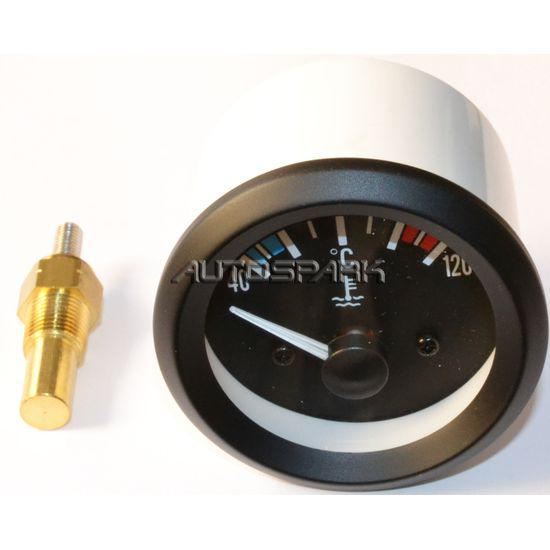 55.7.131010 - AUTOSPARK, Temperature Gauge 52mm 40-120C with sensor 10x1