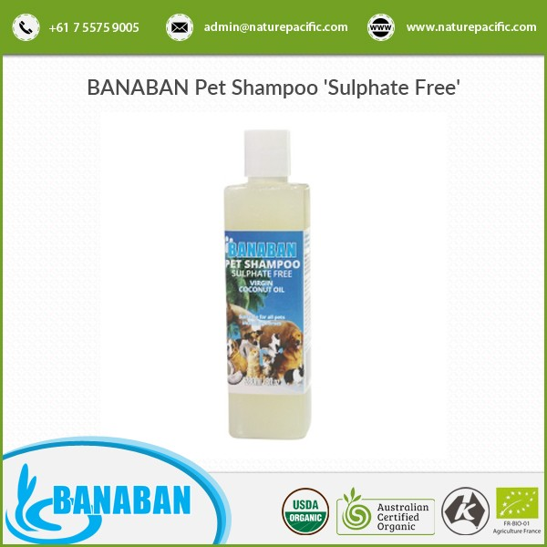 100% Sulphate Free BANABAN Pet Shampoo Available for Wholesale Purchase