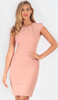 BODYCON DRESS WITH FLATTERING PANNELS AND DARTS. CREPE LOOK JERSEY, INVISIBLE BACK ZIP. FULLY LINED.