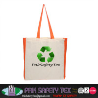 Orange Color Recyclable/Foldable/Plain Shopping Cotton Bag