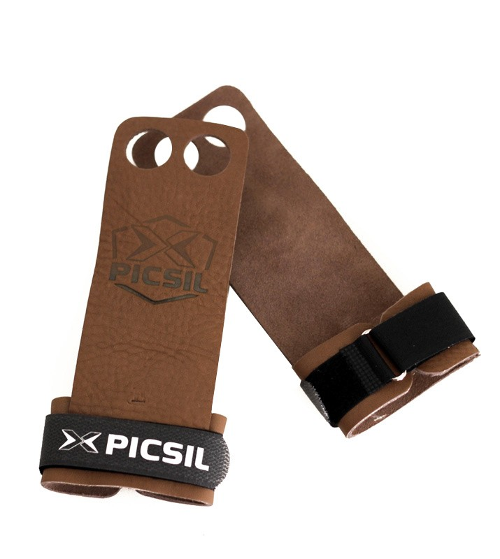 PicSil 2 hole Crossfit grips and gymnastics grips Great for WODs, pullups, weight lifting, chin up the best grips of world