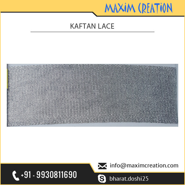 Direct from Factory Supply of Fancy Grey Kaftan Lace with Embroidery at Reasonable Price
