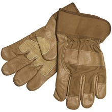 Cowhide Grain Leather Driving industrial use working safety gloves