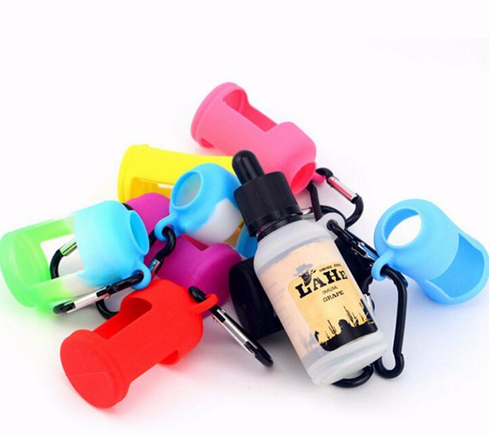 Silicone Skin For E Liquid Bottles Soft Pouch Box Protective Colorful Display Case Fit E Juice Bottle 30ML Silicon Rubber Sleeve