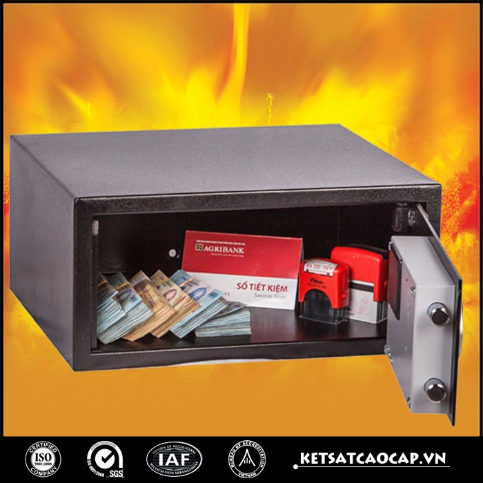 Heavy Duty Portable Hidden Electronic Digital Fireproof Safe Box with Key Code Secret for Hotel - KS42 BDD