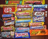 Twix, Mars, Snickers and Bounty Chocolate Candy
