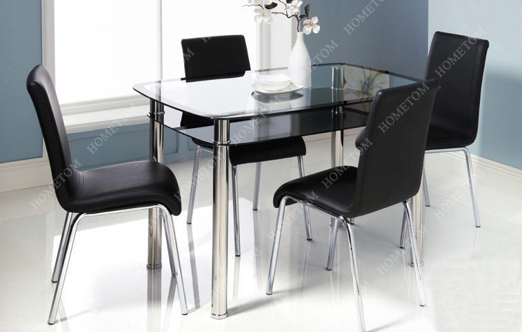 dining room furniture metal glass dining table and chair
