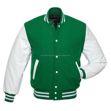 Custom winter jacket wholesale/jacket blank plain baseball varsity jackets
